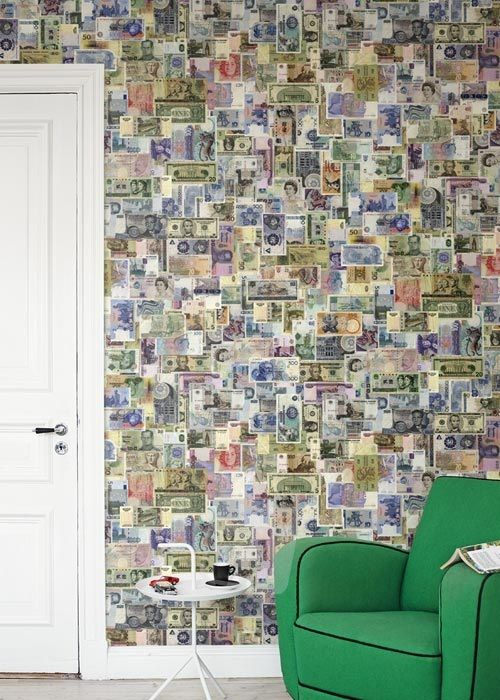 Vliesová tapeta Mr Perswall - Money Wall 180 x 265 cm