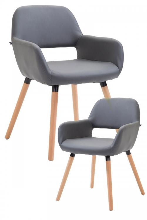 181924f5bf4  VÝPRODEJ  - (SET 2 ks) Židle Bobby šedá (dostupný 1 set