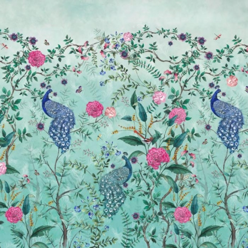 Vliesová tapeta Mr Perswall - Chinoiserie - Spring Green 360 x 265 cm